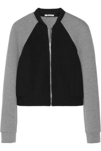 Find here: http://www.net-a-porter.com/product/382958/T_by_Alexander_Wang/two-tone-neoprene-and-jersey-bomber-jacket